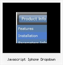Javascript Iphone Dropdown Scroll Menu Button Creator