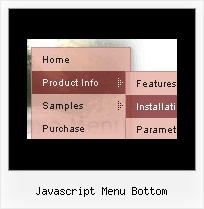 Javascript Menu Bottom Html Menu Buttons Mouse Over