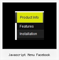 Javascript Menu Facebook Menu Maker Template