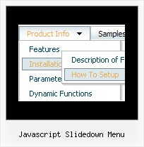Javascript Slidedown Menu Create Drop Down Menus Using Javascript