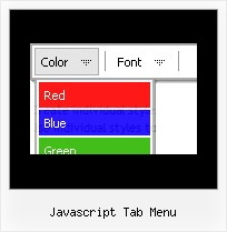 Javascript Tab Menu Using Javascript To Develop Menu Bar