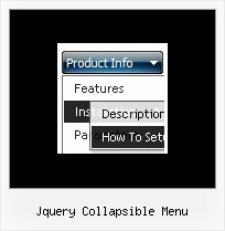 Jquery Collapsible Menu Html Coding For Drop Down Menu