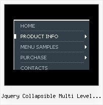 Jquery Collapsible Multi Level Side Menu Tab Menu