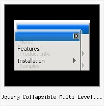 Jquery Collapsible Multi Level Side Menu Dynamic Menu Sample