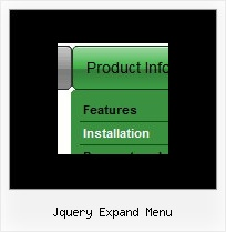 Jquery Expand Menu Drop Down Menu By Expanding