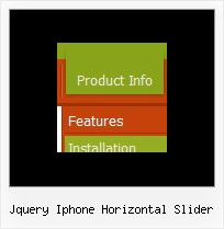 Jquery Iphone Horizontal Slider Collapsible Frames Javascript