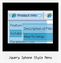 Jquery Iphone Style Menu Javascript Frame Position