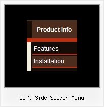 Left Side Slider Menu Dhtml Web Menus
