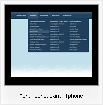 Menu Deroulant Iphone Foldout Menu