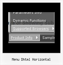 Menu Dhtml Horizontal Javascript Simple Vertical Menu Easy Example