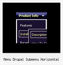 Menu Drupal Submenu Horizontal Menu Code Sample