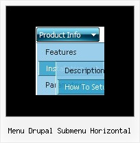 Menu Drupal Submenu Horizontal Tree Menus