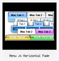 Menu Js Horizontal Fade Mouse Over Pulldown
