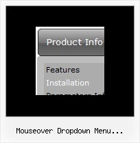Mouseover Dropdown Menu Horizontal Mit Html Website Menu Systems