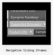 Navigation Sliding Iframes Drop Down Tool Bar Java Example