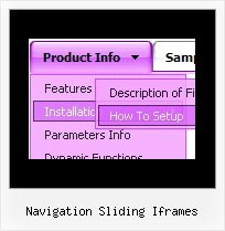 Navigation Sliding Iframes Javascript For Different Menu Bars