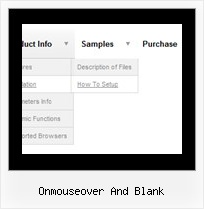 Onmouseover And Blank Menu Windows Style