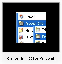 Orange Menu Slide Vertical Menu En Cascade Dynamique En Javascript