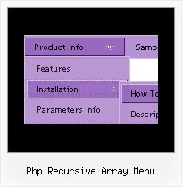 Php Recursive Array Menu Cascading Drop Down Menu Tutorial
