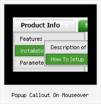 Popup Callout On Mouseover Web Gui Dhtml