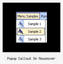 Popup Callout On Mouseover Javascript Drop Menu Tutorial