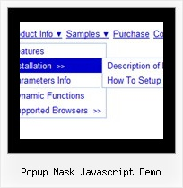 Popup Mask Javascript Demo Dhtml Expand