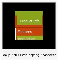 Popup Menu Overlapping Framesets Horizontal Html Layers Menu