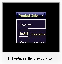 Primefaces Menu Accordion Drop Down Menu Design Code