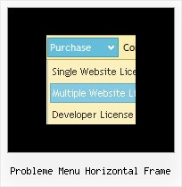 Probleme Menu Horizontal Frame Dropdown Rollover