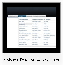 Probleme Menu Horizontal Frame Display A Menu Over Frames