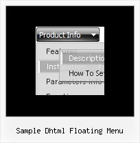 Sample Dhtml Floating Menu Xp Style Arrows