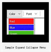 Sample Expand Collapse Menu Code Menu Tree