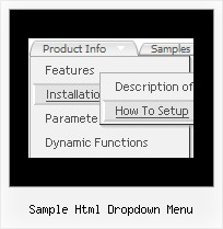Sample Html Dropdown Menu Javascript Menu From Array