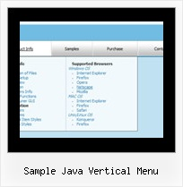 Sample Java Vertical Menu Dropdown Css Menu