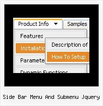 Side Bar Menu And Submenu Jquery Easy Drop Down Menu Script
