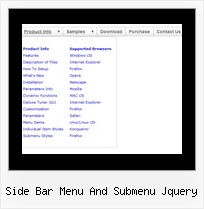 Side Bar Menu And Submenu Jquery Dhtml Transition Popup