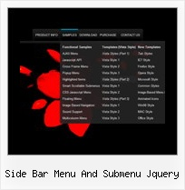 Side Bar Menu And Submenu Jquery Javascript Navigation Tabs