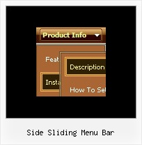 Side Sliding Menu Bar Menus Con Java Script