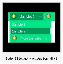 Side Sliding Navigation Html Drag And Drop Text Items Javascript