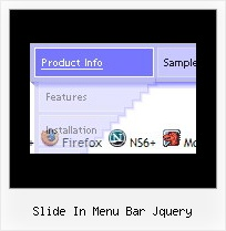 Slide In Menu Bar Jquery Transparent Menu Rollover
