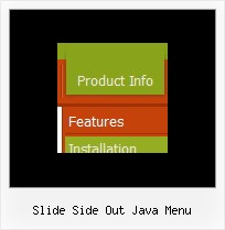 Slide Side Out Java Menu Javascript Menu Popup Example