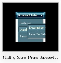 Sliding Doors Iframe Javascript Website Menu Maker