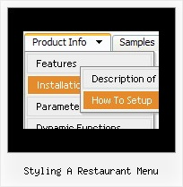 Styling A Restaurant Menu Rollover Drop Down Navigation Menus
