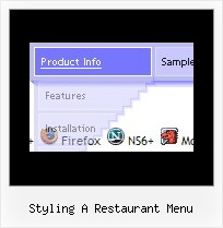 Styling A Restaurant Menu Cool Rollover Menu