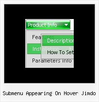 Submenu Appearing On Hover Jimdo Dhtml Sliding Menus
