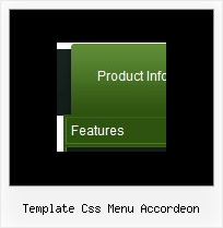 Template Css Menu Accordeon Web Menubar Disabled