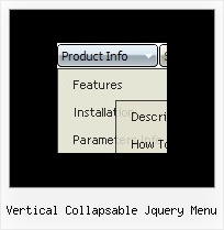 Vertical Collapsable Jquery Menu Html Drop Pull Down Menu Code