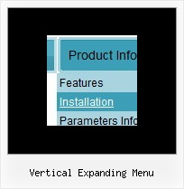 Vertical Expanding Menu Web Menu Design