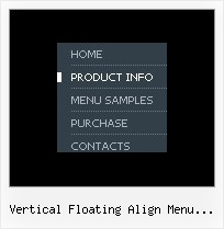 Vertical Floating Align Menu Jquery Cool Html Tree