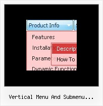 Vertical Menu And Submenu Scolling Bar Cascade Popup Menu Css